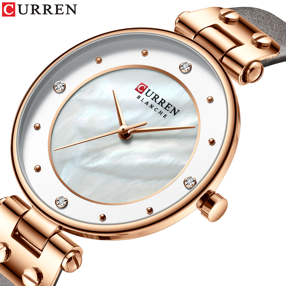 CURREN Fashion Luxury Brand Women Quartz Watch Creative Ladies Wrist Watches For Female Clock Relogio Feminino Leather Watch