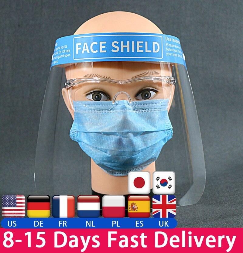 Protección facial para evitar que el Flying Spit evite el viento escudo transparente antigoteo Balaclava protege la cara completa que cubre la máscara