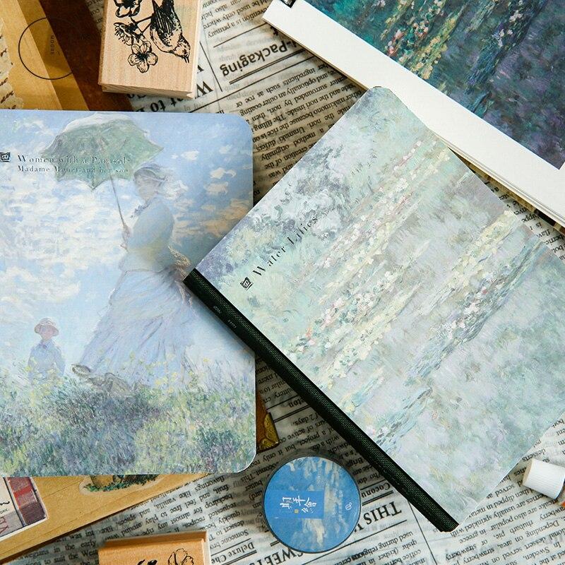 World famous paintings van gogh Blank Sketchbook Diary Drawing Painting Notebook set Sketch Book School Supplies birthday gift