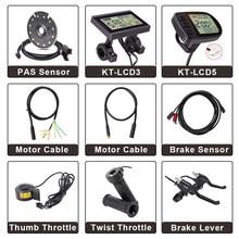 Ebike Controlador Sensor de Freio Peças KT Display LCD LCD3 LCD5 Alavanca Do Freio de bicicletas a Motor E Cabo de Extensão Torção Do Acelerador PAS sensor de