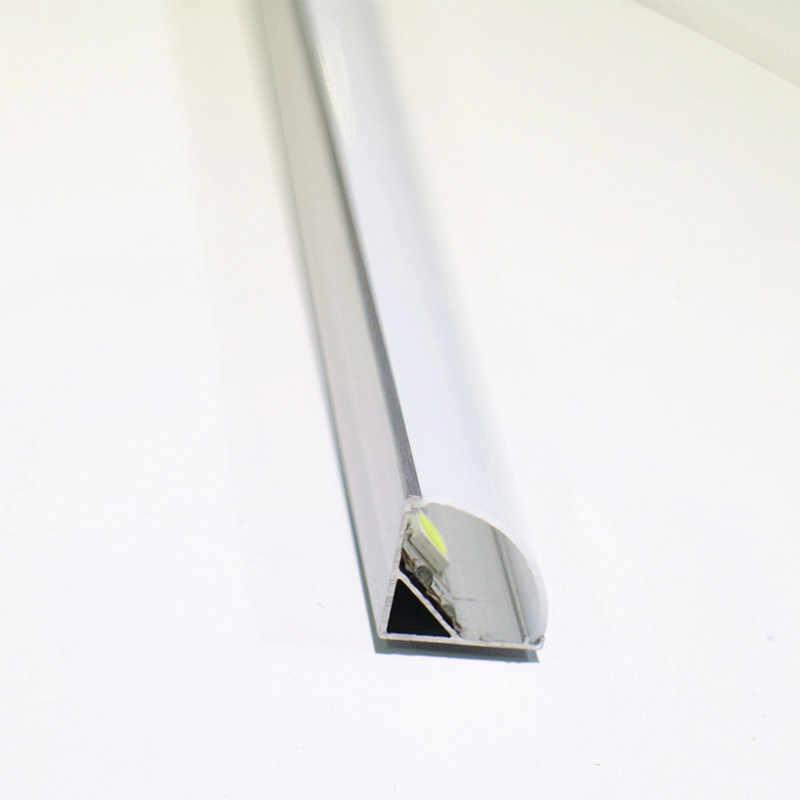 2-30 ピース/ロット 0.5 メール/ピース 45 度の角度 5050 3528 5630 LED ストリップ用アルミプロファイル乳白色/ 透明カバーストリップチャンネル