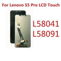 레노버 s5 프로 디스플레이 터치 스크린 교체 레노버 s5 프로 gt l58041 l58091 lcd 디스플레이