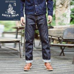 Saucezhan 316XX Casual Zelfkant Jeans Raw Denim Jeans Ongewassen Zelfkant Indigo Denim Jeans Straight Heren Jeans