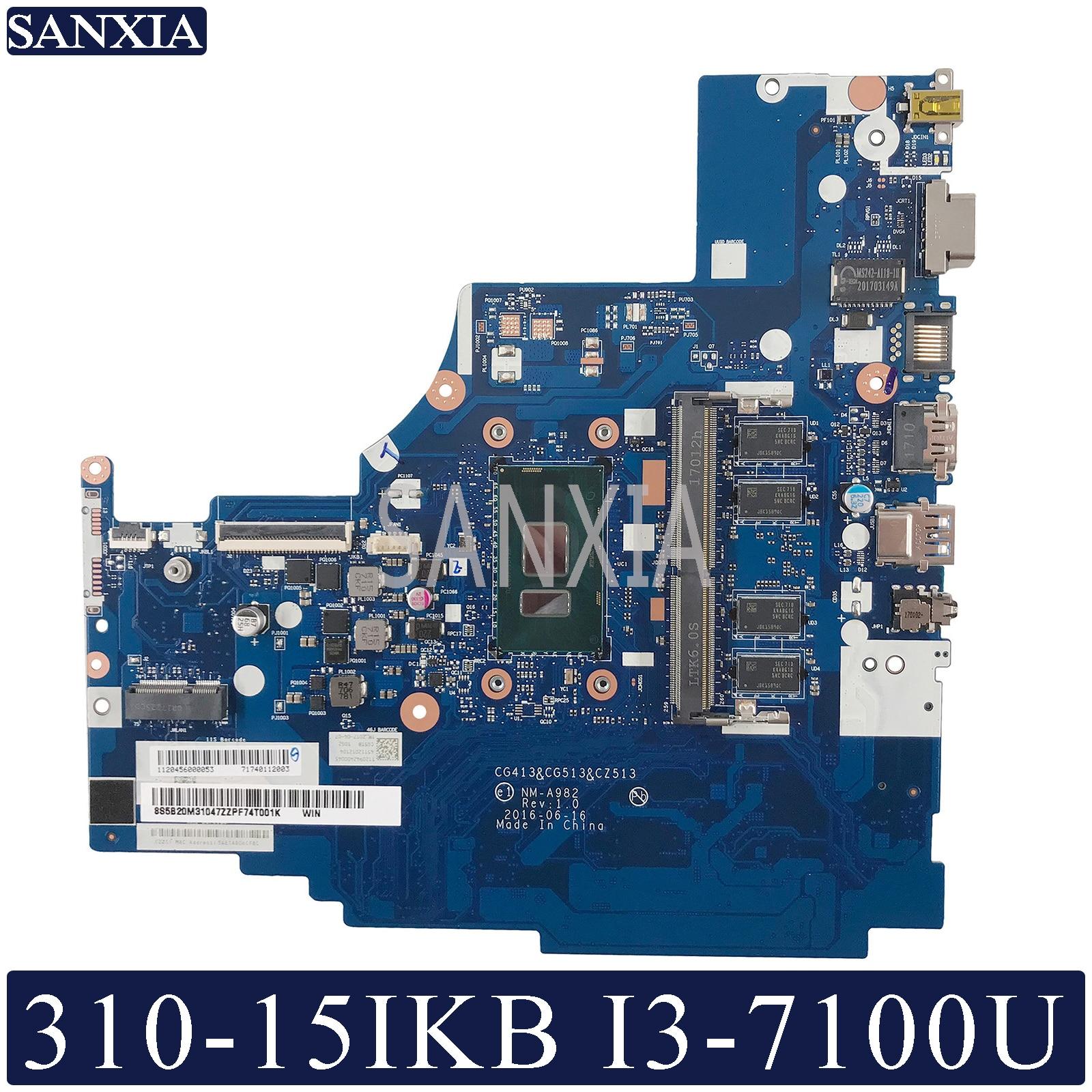 KEFU NM-A982 Laptop Motherboard For Lenovo 310-15IKB Original Mainboard 4G-RAM I3-7100U