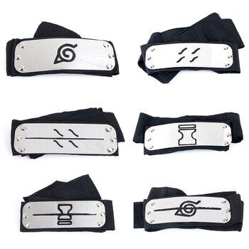 Anime Naruto Headband Uzumaki Naruto Kakash Forehead Fashionable Guard Head Band Cosplay Accessories Kid Toy Gifts