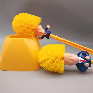 Trump Shaped Toilet Brush New Durable Plastic Household Bathroom WC Cleaning Borstel Toilet Cleaner Brushes Clean Tools