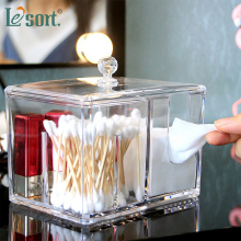 цена на Acrylic Multifunctional Container Cosmetic Makeup Cotton Pad Organizer Jewelry Storage Box Clear Acrylic Cotton Swabs Organizer