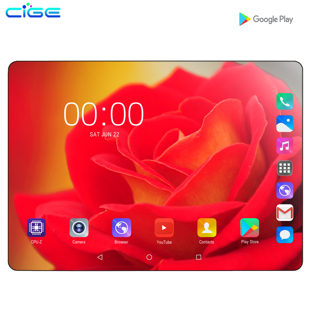 2020 Novo design de 10.1 polegada o Tablet 6 8 Núcleo Android 9.0 GB + 128GB ROM Dual Camera 8MP SIM Tablet PC Wifi GPS 4G telefone Lte