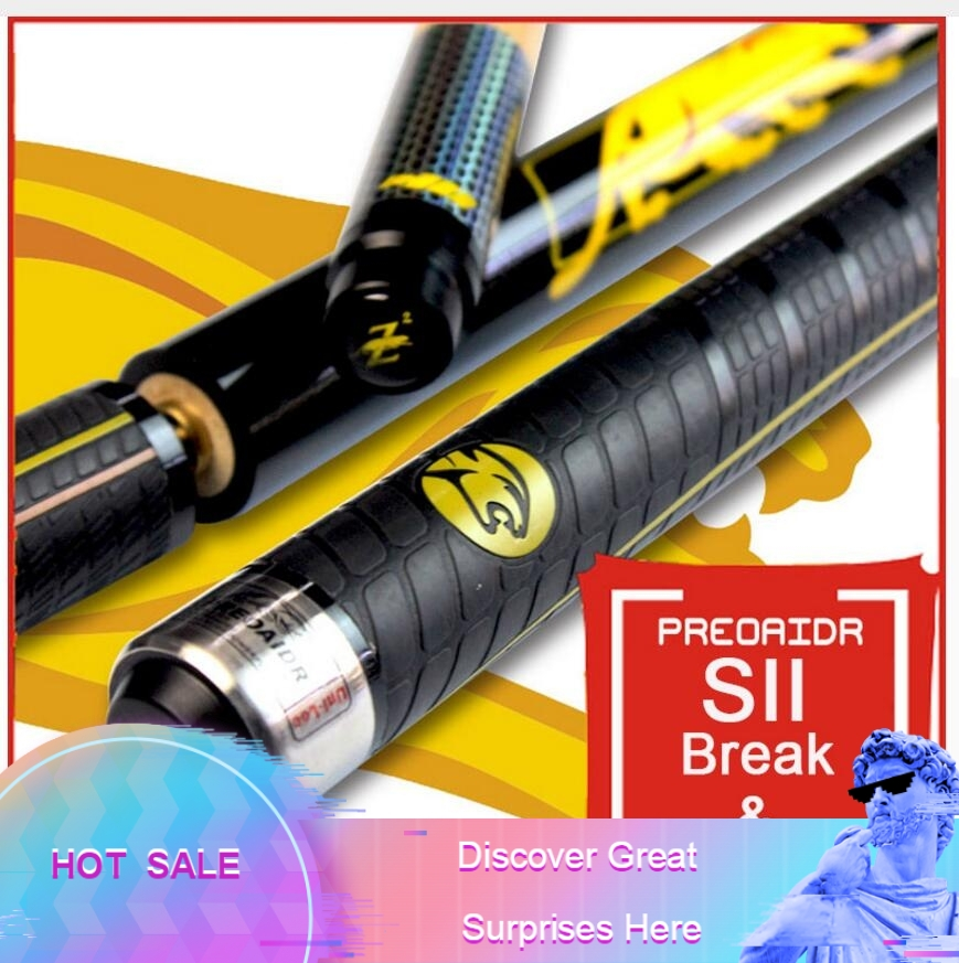 New PREOAIDR 3142 S2 Break Cue Pool Punch Jump Cue 13mm Tip Billiard Stick Jump Cues