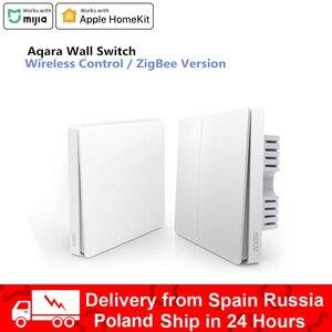 Aqara Wall Switch Smart ZigBee Zero Line Fire Wire Light Remote Control Wireless Key Wall Switch Without Neutral mi Home homekit(China)