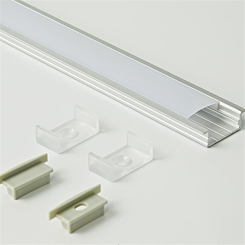 U 50cm Aluminium Channel Holder For LED Strip Light Bar Under Cabinet Lamp Kitchen Chandeliers 23mm Wide Cover Accessory