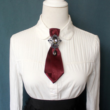 Elegante camisa para hombres y mujeres adultas corbata de lazo corbata Vintage broche de cristal de diamantes de imitación corbata novio trabajo boda fiesta regalo pajarita