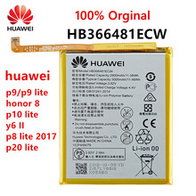 100 Orginal HB366481ECW For Huawei p9 p9 lite honor 8 p10 lite y6 II p8 lite 2017 p20 lite honor 5C Ascend P9 battery cheap 2801mAh-3500mAh Original