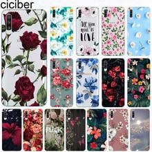 Ciciber Phone Case for Samsung Galaxy A50 A70 A80 A40 A30 A20 A60 A10 A20e Soft Silicone TPU Flower Rose Vintage Cover Fundas