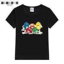 2020 criança chocolate feijão mm imprimir engraçado streetwear t camisa menino/menina anime manga curta camiseta 3d bebê camisas