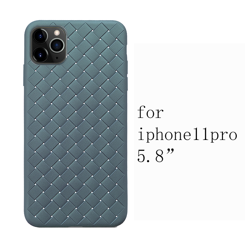 H8b52751323f64d71aea053e215484023D NEW Boomboos Classic cross leather pattern weaving breathable soft grid case for iPhone11 for iphone 11 max for apple 11 pro