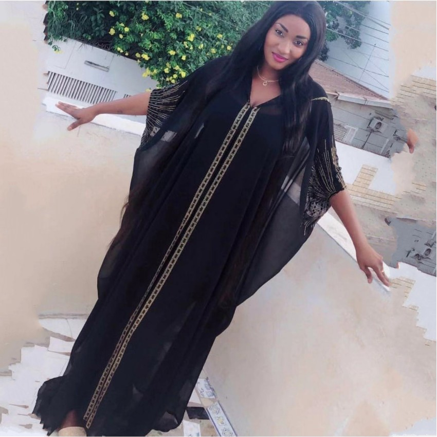 Length 140cm African Dresses For Women Africa Clothing Muslim Long Dress High Quality Length Fashion African Dress For Lady