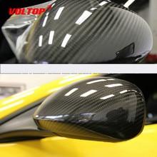 5D yüksek parlak karbon elyaflı vinil film 10x152cm araba Styling Wrap motosiklet araba Styling aksesuarları iç karbon fiber film