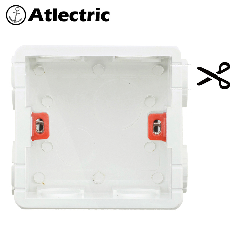 Wall Plate Cut Open Cassette Mounting Wall Switch Box And Wall Socket Box Junction Box For Sockets 86 Type Mounting Box