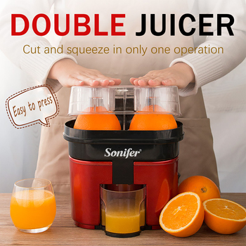 Fast Double Juicer 90W Electric Lemon Orange Fresh Juicer With Anti-drip Valve Citrus Fruits Squeezer Household 220V Sonifer 2