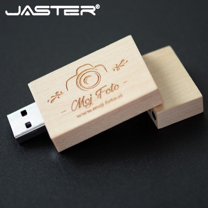 JASTER Wooden Block USB Flash Drive Red Wood Pendrive 4GB 8GB 16GB 32GB Pen Drive Memory Stick U Disk Gift USB 3.0