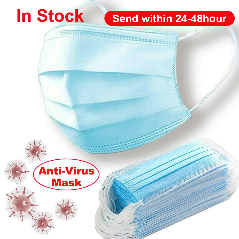 Antivirus Disposable Face Mask Nonwove 3 Layer Ply Filter Mouth Face Mask Dust FFP3 KF94 N95 Mouth Masks|Masks| | - AliExpress