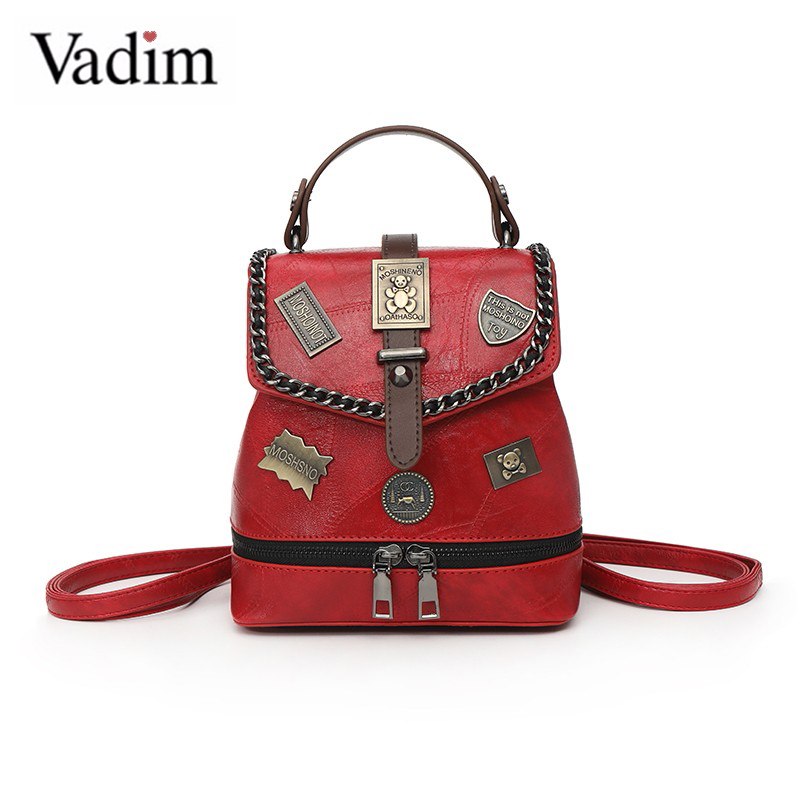 Vadim 2019 Multifunction Small Bag Women Backpack Letter Desginer Female Small Backpack Ladies Travel Bags Mochia Sac A Dos