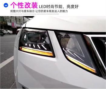 2pcs 2018~2019y car bupmer head light for Skoda Octavia headlight car accessories All in LED fog for Octavia headlamp