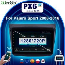 PX6 2 din Android 10 car radio For Mitsubishi PAJERO Sport L200 Triton 2006 2016 car stereo Navigation 2din auto radio bluetooth