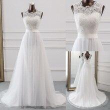 새로운 Applique 웨딩 드레스 정장 가운 mariage Vestidos 드 Novia 신부 드레스 vestido 드 페스타 비치 웨딩 드레스