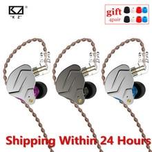 سماعات أذن KZ ZSN PRO 1BA + 1DD تقنية هجينة HIFI معدنية داخل الأذن سماعات أذن مزودة بجهير وخاصية إلغاء الضوضاء ZSX ZSN PRO X ZSTX