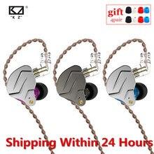 KZ ZSN PRO 1BA + 1DD hibrid teknolojisi HIFI Metal kulak kulaklık bas kulaklık spor gürültü iptal kulaklık ZSX ZSN PRO X ZSTX