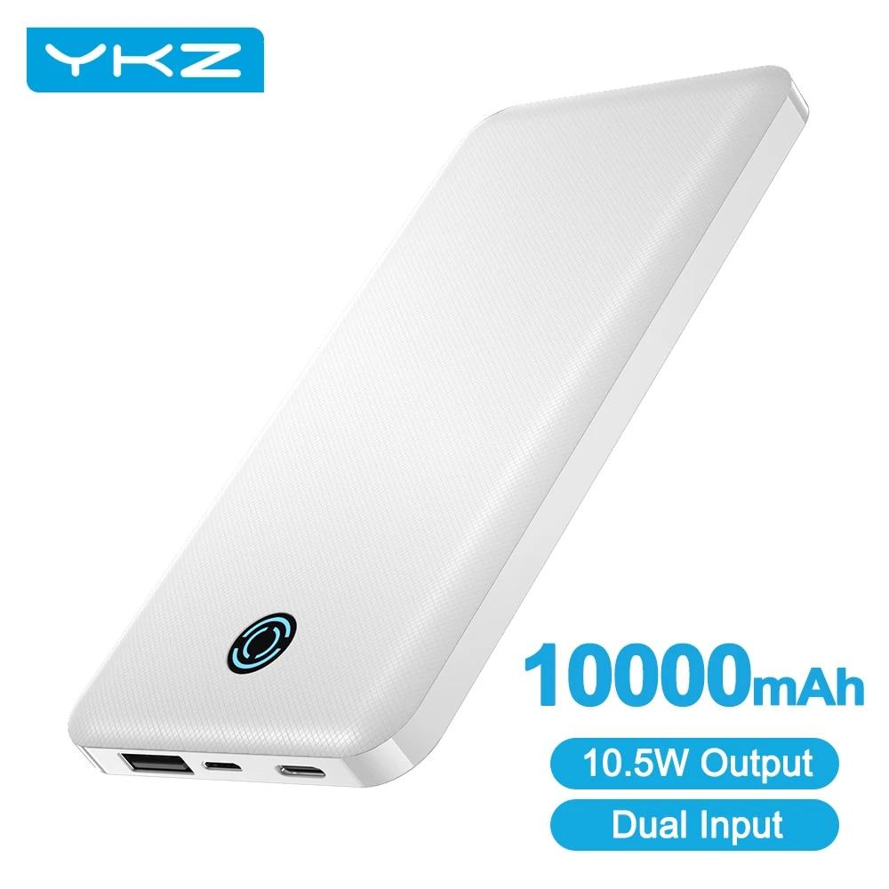 YKZ PowerCore 10000mAh Power bank zewnętrzna bateria przenośna ładowarka Mini USB C Powerbank Poverbank PowerCore dla iPhone Xiaomi