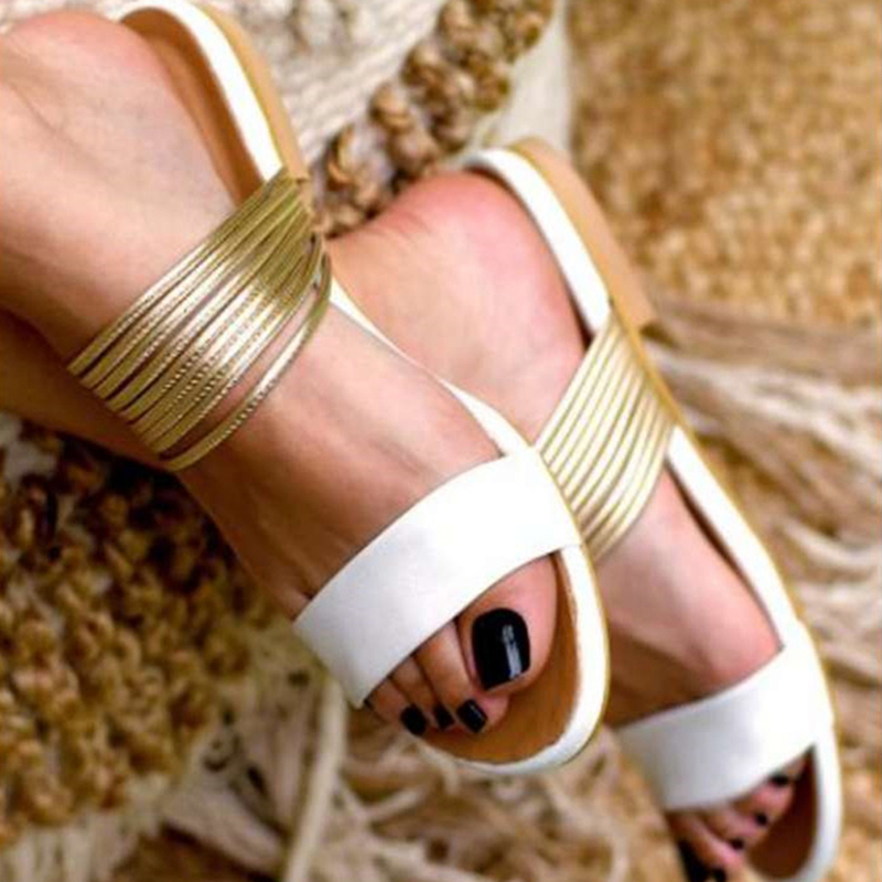 2020 Women Rome Sandals New Summer Hot Retro Wedges Gladiator Non-slip Slippers Ladies Party Office Shoes Beach Sandals Slides