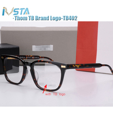 IVSTA Thom TB 402 404 Handmade Acetate Glasses Men Prescription Optical Frames Spectacle Square Tortoise  with Logo Luxury Brand