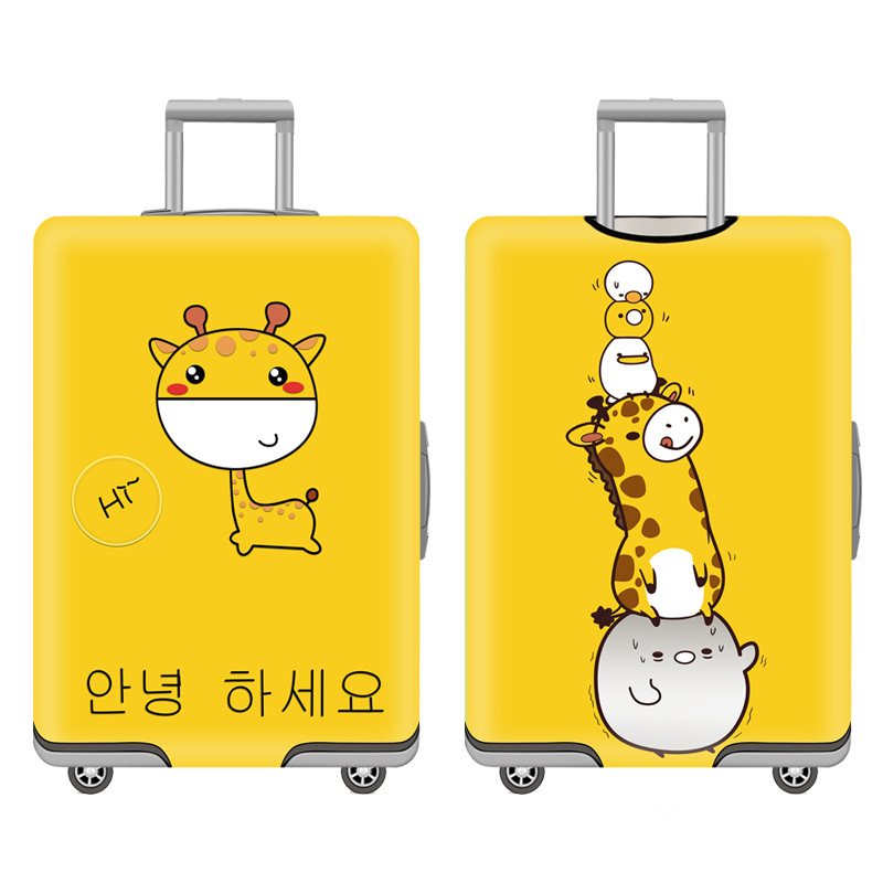 Thicker Travel Luggage Suitcase Protective Cover Dust Case Travel Bag Accessorie Trolley Baggag Elastic Luggage Cover 18-32 Inch