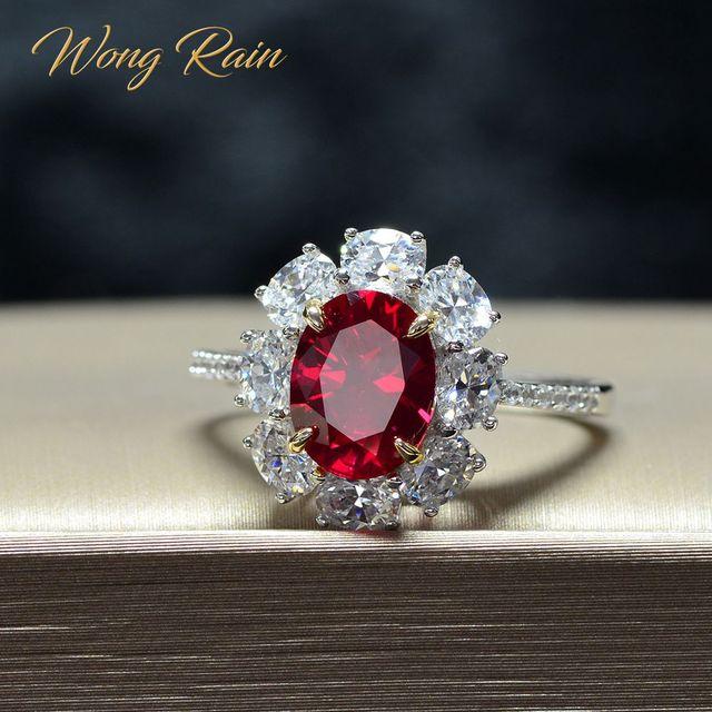 · ウォン雨ヴィンテージ 100% 925 スターリングシルバー作成モアッサナイト用原石の婚約指輪ファインジュエリーギフト卸売