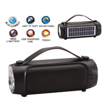 Mp3-Player Flashlight Bluetooth-Speaker Fm-Radio Solar-Panel Outdoor Tf-Card Portable