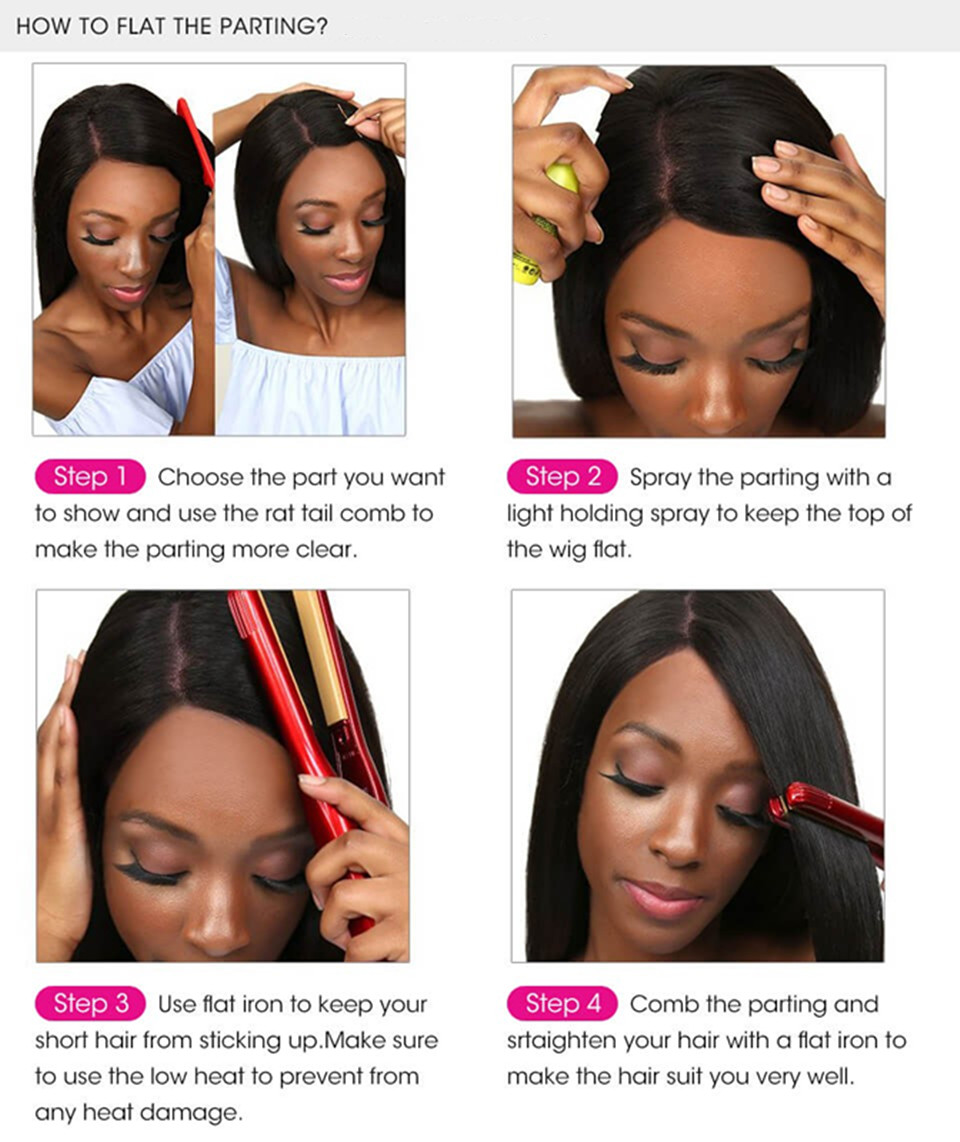 how to parting the hair