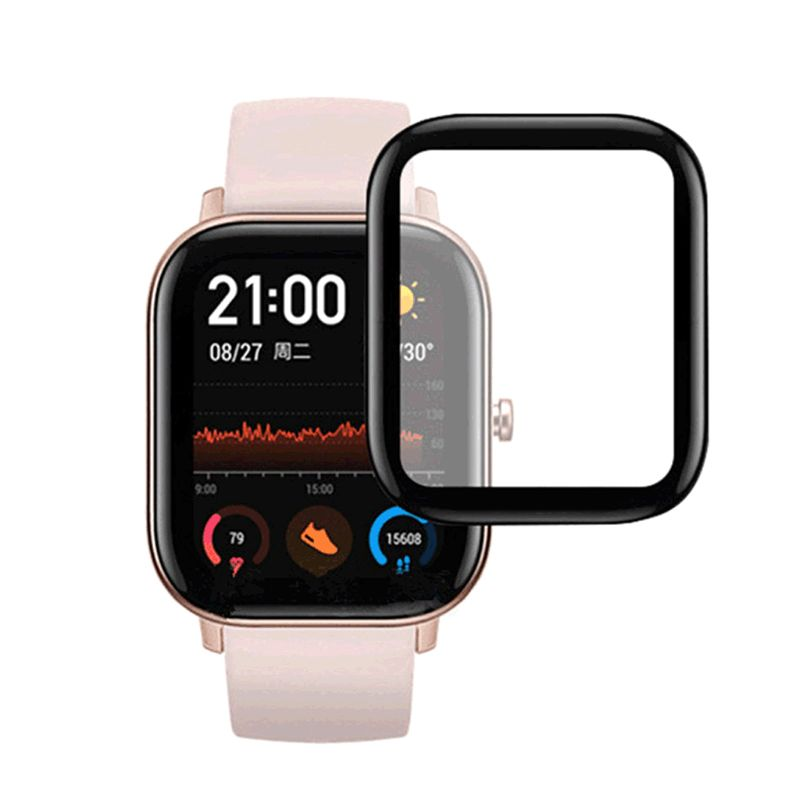 1PC/2PCS Tempered Glass Screen Protector Clear Cover 3D Curved Surface Protective Film For Huami Amazfit GTS Smart Watch