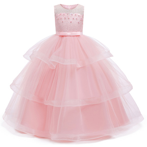 Image 2 - เจ้าหญิงดอกไม้สำหรับงานแต่งงาน Communion Gown ชุดวันเกิดสาวลูกไม้กลีบยาว Maxi ชุดงานเลี้ยง