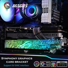 Aurora — Support de carte graphique RGB 12V et Aurora 5V, support de synchronisation, pollution lumineuse, partenaire, châssis, croyance led, vga, asus