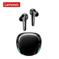 Lenovo-Bluetooth 5.1 T92 twsワイヤレスヘッドセット,オリジナル,ステレオ,ベース,ノイズリダクション,タッチコントロール,LEDディスプレイ