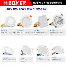 MiBOXER RGB+CCT LED Downlight 6W/9W/12W/15W/18W/25W LED Ceiling Spotlight Dimmable AC 110V 220V LED LED Down lamp