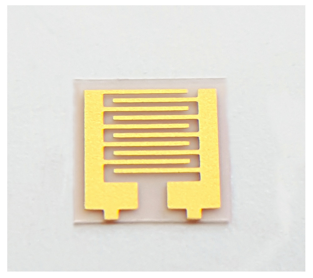 90um Flexible Fork Finger Electrode PET Capacitor Array Sensor Chip IDE