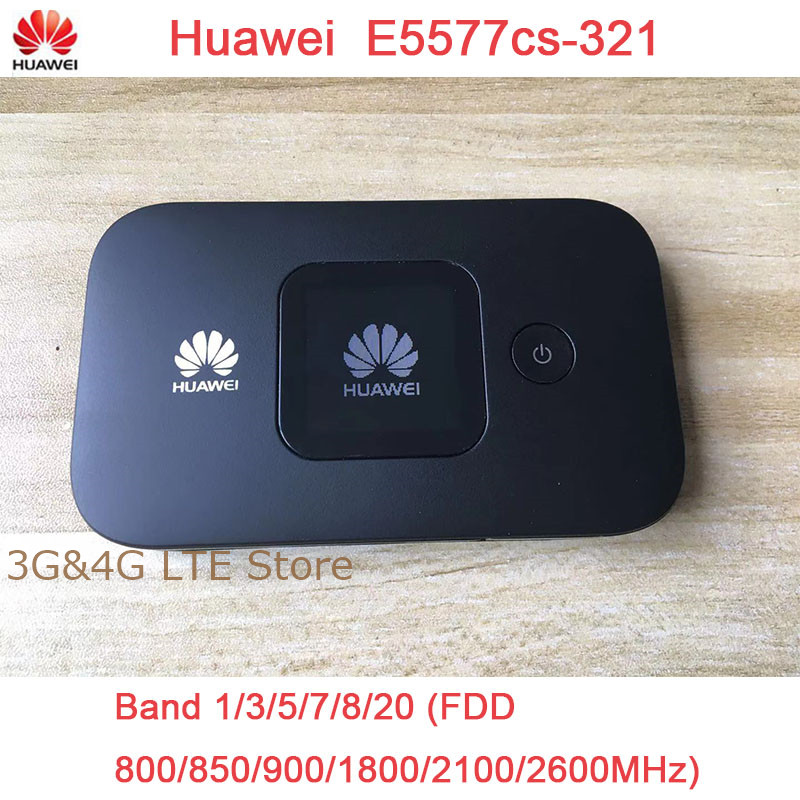 Unlocked New HUAWEI E5577  4G LTE Cat4 E5577Cs 321 1500mah Mobile Hotspot Wireless WIFI Router Pocket-in 3G/4G Routers from Computer & Office