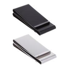 Stainless Steel Slim Double-sided Money Clip Purse Wallet Credit Card ID Holder