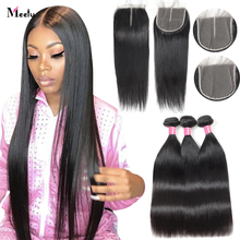 Bone Straight Human Hair Bundles With Closure HD Lace Closures With Bundles Brazilian Hair Weave Bundles With Closure Remy Hair