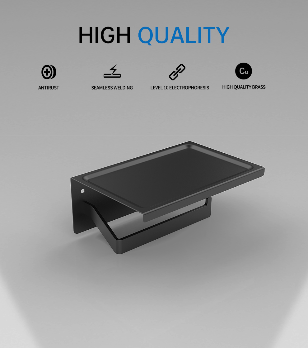 Matte Black/Silver Stainless Steel Phone Toilet  Paper Holder,Cell Phone Paper Holder,Phone Toilet Paper Holder,Bathroom Holder