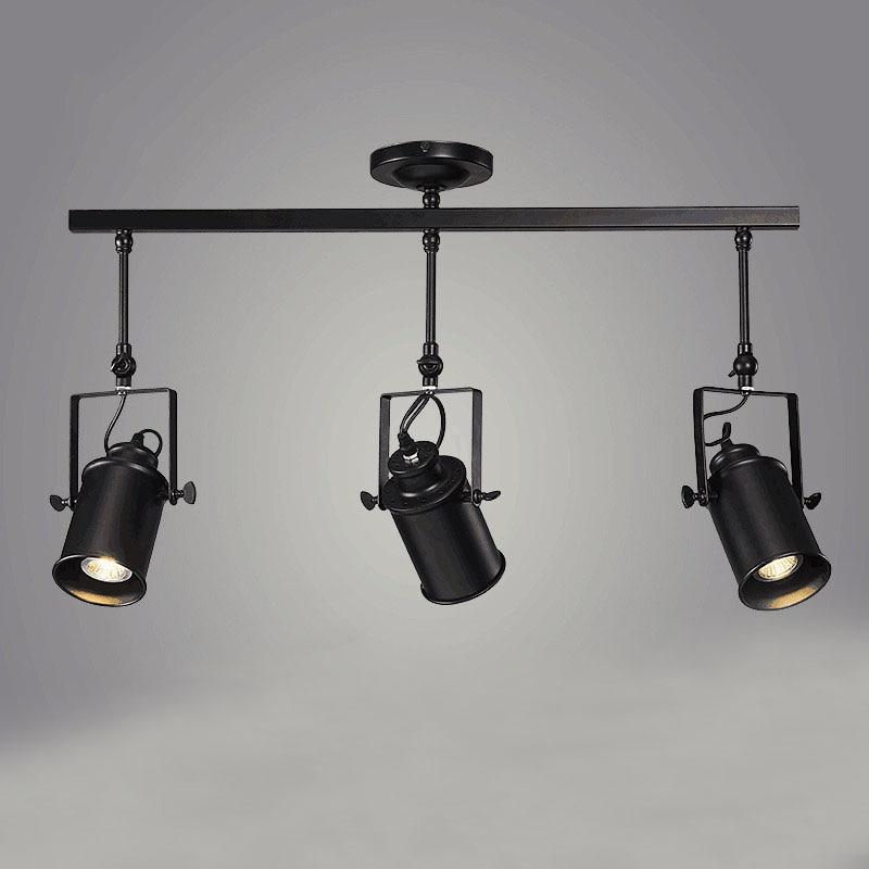 Винтажные железные потолочные светильники в стиле лофт, регулируемая Подвесная лампа, освещение для магазина одежды, кофейни // бар/торговы...